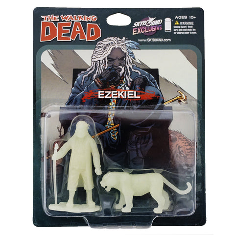 THE WALKING DEAD - Ezekiel and Shiva PVC Figure 2-Pack (Glow-in-the-Dark)