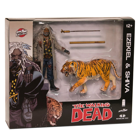 THE WALKING DEAD Ezekiel and Shiva Action Figure 2-pack (Blood Splattered)