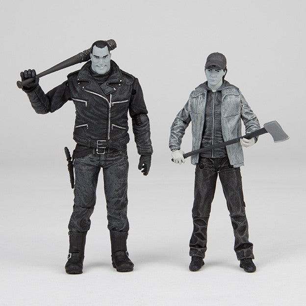 THE WALKING DEAD Negan and Glenn Action Figures 2-pack (Black and White)