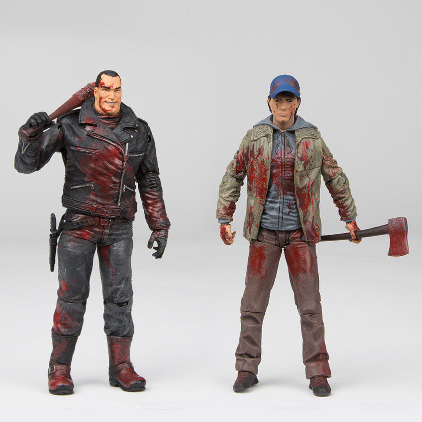 THE WALKING DEAD Negan and Glenn Action Figure 2-pack (Color, Blood Splattered)