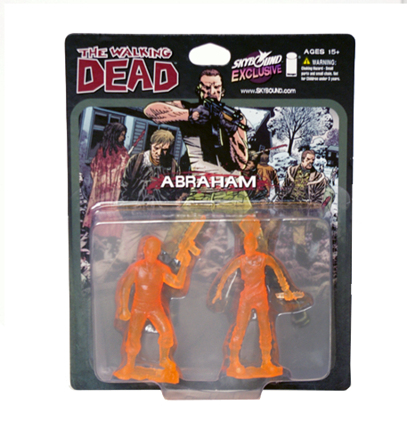 THE WALKING DEAD - Abraham PVC Figure 2-Pack (Translucent Orange)