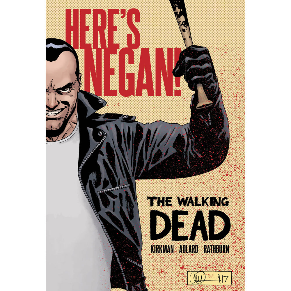 "(30% Off) The Walking Dead ""Here's Negan!"" - Hardcover Book"
