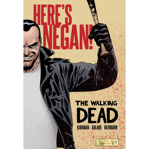 "THE WALKING DEAD - ""Here's Negan!"" Hardcover"