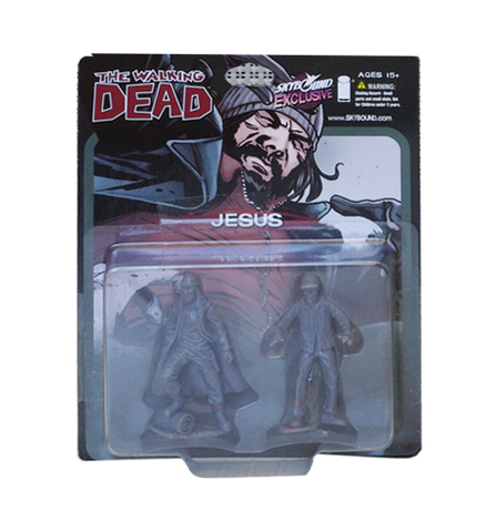 THE WALKING DEAD - Jesus PVC Figure 2-Pack (Bloody Grey)