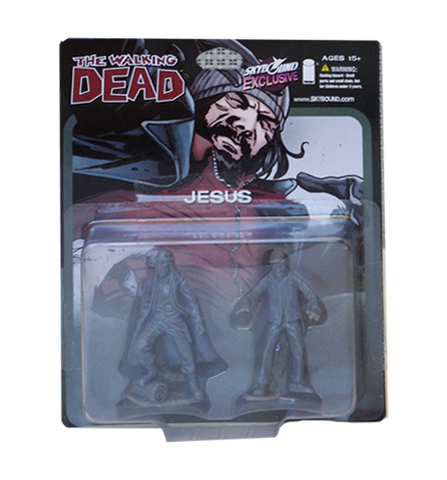 THE WALKING DEAD - Jesus PVC Figure 2-Pack (Grey)