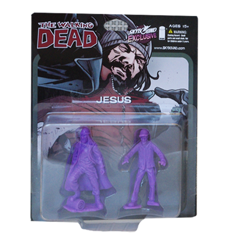 THE WALKING DEAD - Jesus PVC Figure 2-Pack (Purple)