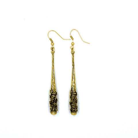 THE WALKING DEAD Lucille Earrings from Han Cholo (Brass)