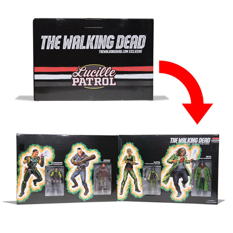 THE WALKING DEAD Lucille Patrol Action Figure Box Set (Bloody)