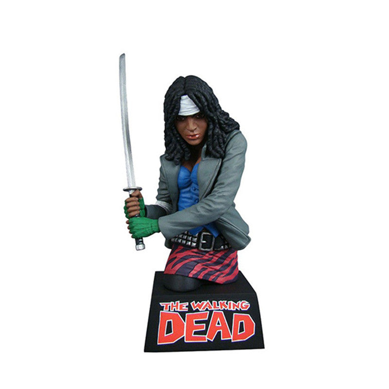 THE WALKING DEAD Michonne Vinyl Bust Bank