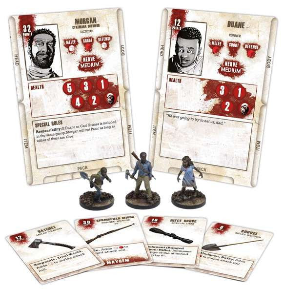THE WALKING DEAD: All Out War Miniatures Game - Morgan Booster