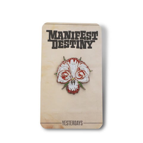 MANIFEST DESTINY Skull Flower Pin