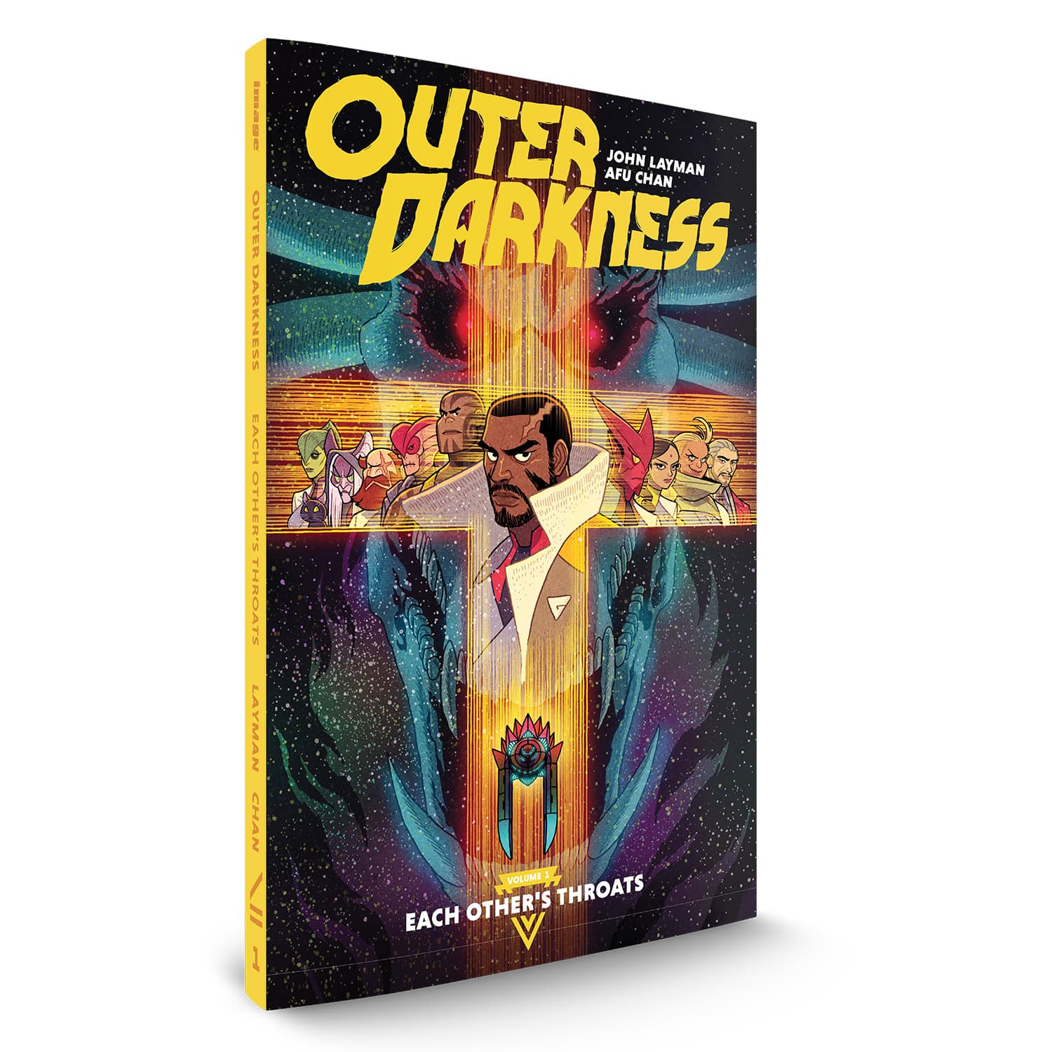 OUTER DARKNESS, VOL. 1: EACH OTHER'S THROATS