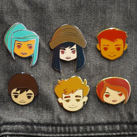 Set of All 6 Oxenfree Character Pins