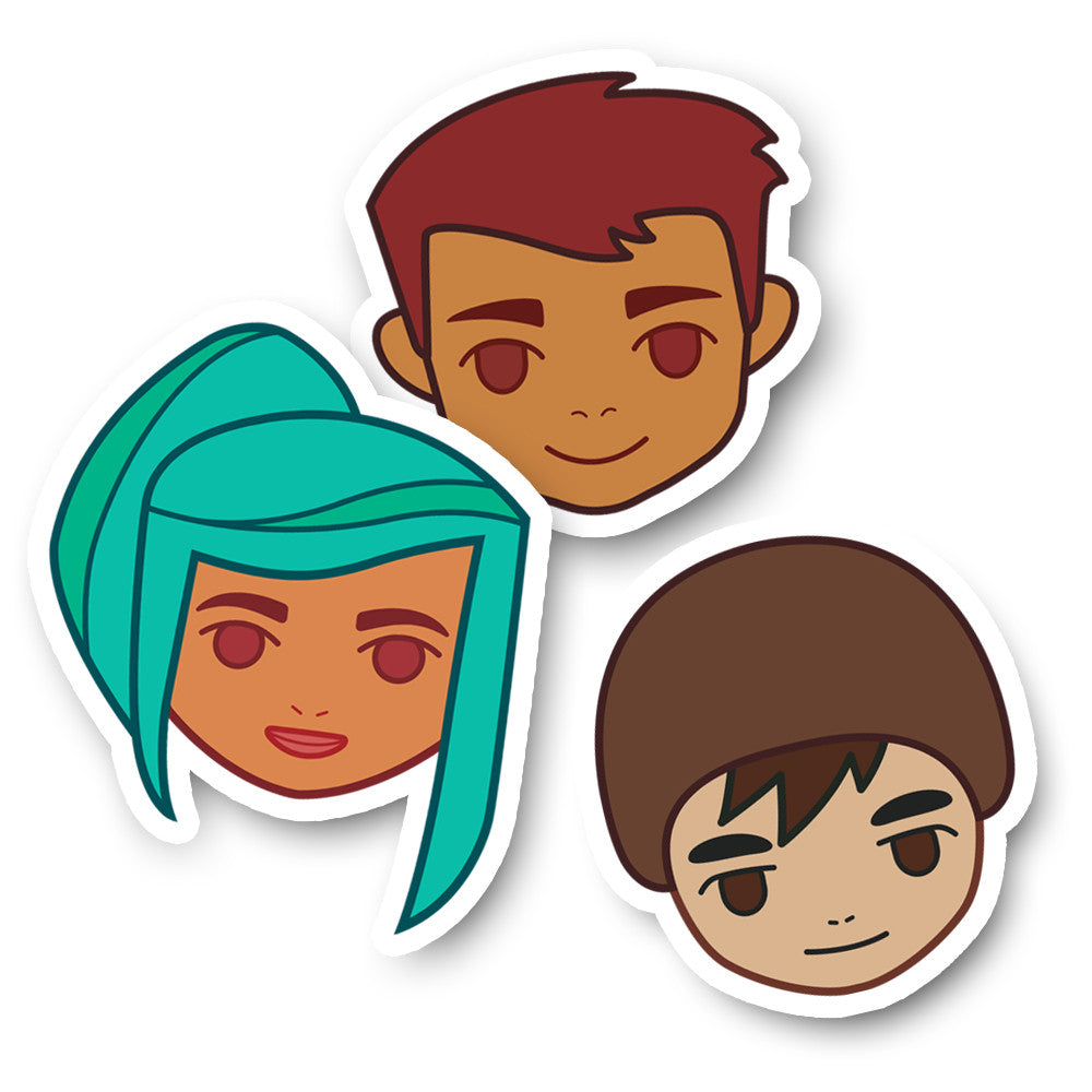 Oxenfree: Alex, Michael, & Jonas Sticker Pack