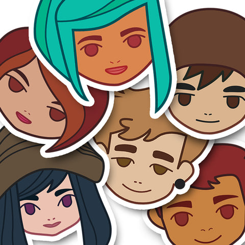 All Six Oxenfree Characters Sticker Pack