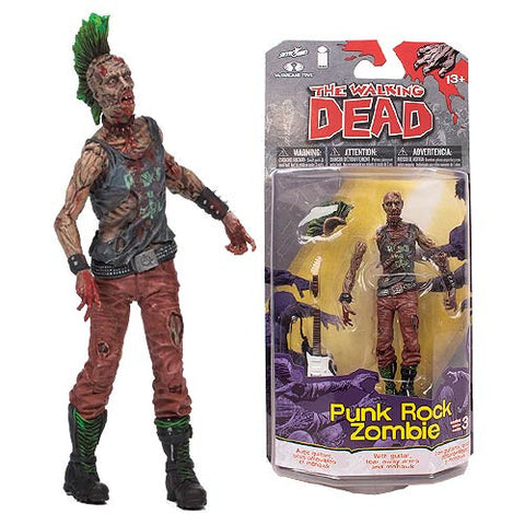 THE WALKING DEAD Comic Series 3 Punk Rock Zombie Action Figure