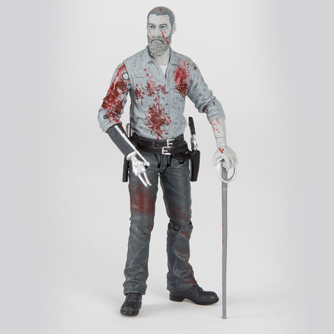 THE WALKING DEAD Rick Grimes 2016 Action Figure (Bloody B&W)