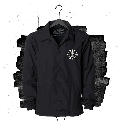 "<strong>DECLASSIFIED:</strong> Die!Die!Die! <br>""Logo"" Unisex Buttoned Coach Jacket – BLACK"