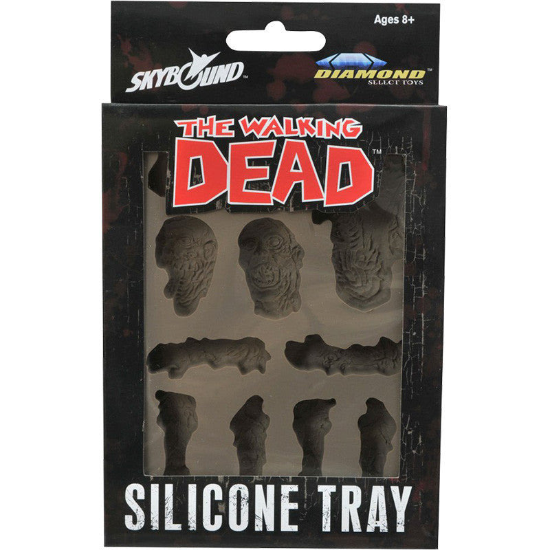 THE WALKING DEAD Zombie Body Parts & Heads Silicone Tray