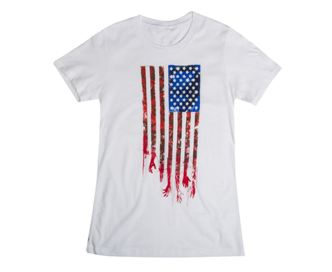 "THE WALKING DEAD ""Flag"" T-Shirt (Women's)"
