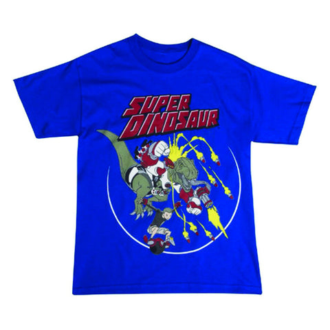 SUPER DINOSAUR Logo T-Shirt in Blue