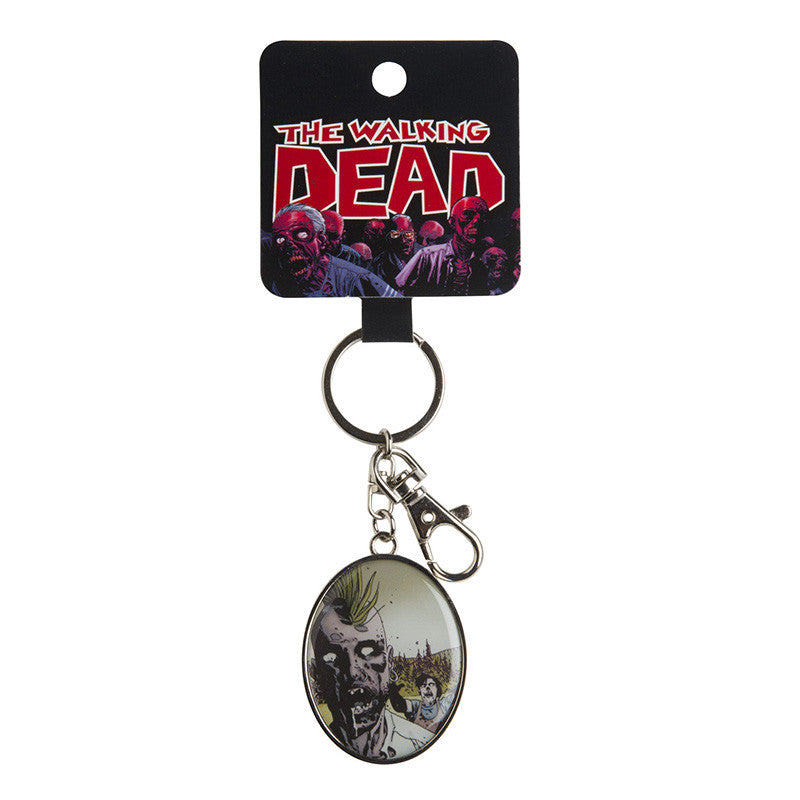 The Walking Dead Punk Rock Zombie Keychain