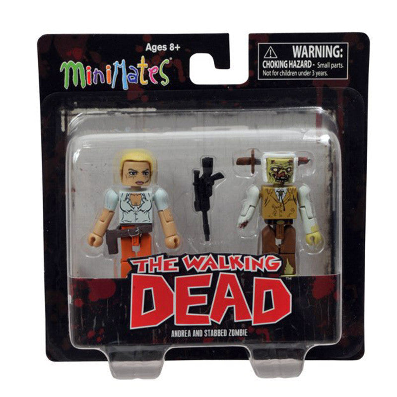 THE WALKING DEAD Minimates - Andrea & Stabbed Zombie