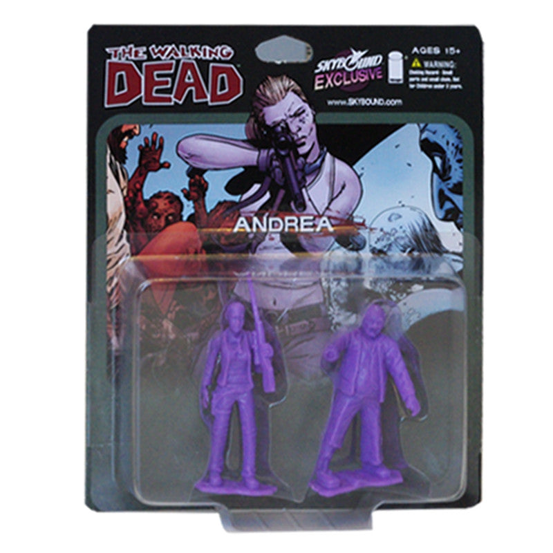 THE WALKING DEAD - Andrea PVC Figure 2-Pack (Purple)