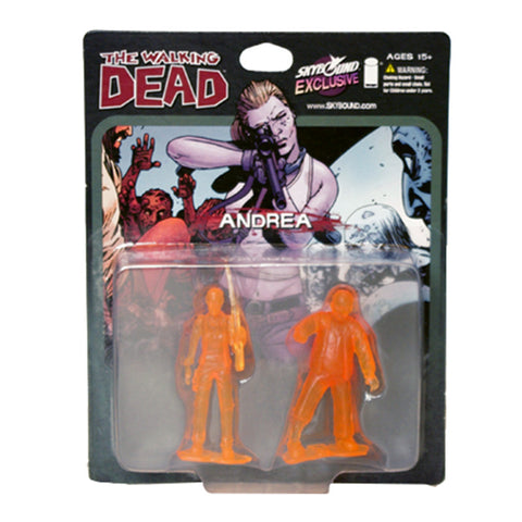 THE WALKING DEAD - Andrea PVC Figure 2-Pack (Translucent Orange)