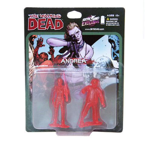 THE WALKING DEAD - Andrea PVC Figure 2-Pack (Translucent Red)
