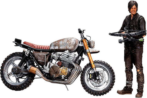 AMC's THE WALKING DEAD TV Daryl Dixon & New Bike Deluxe Action Figure Set