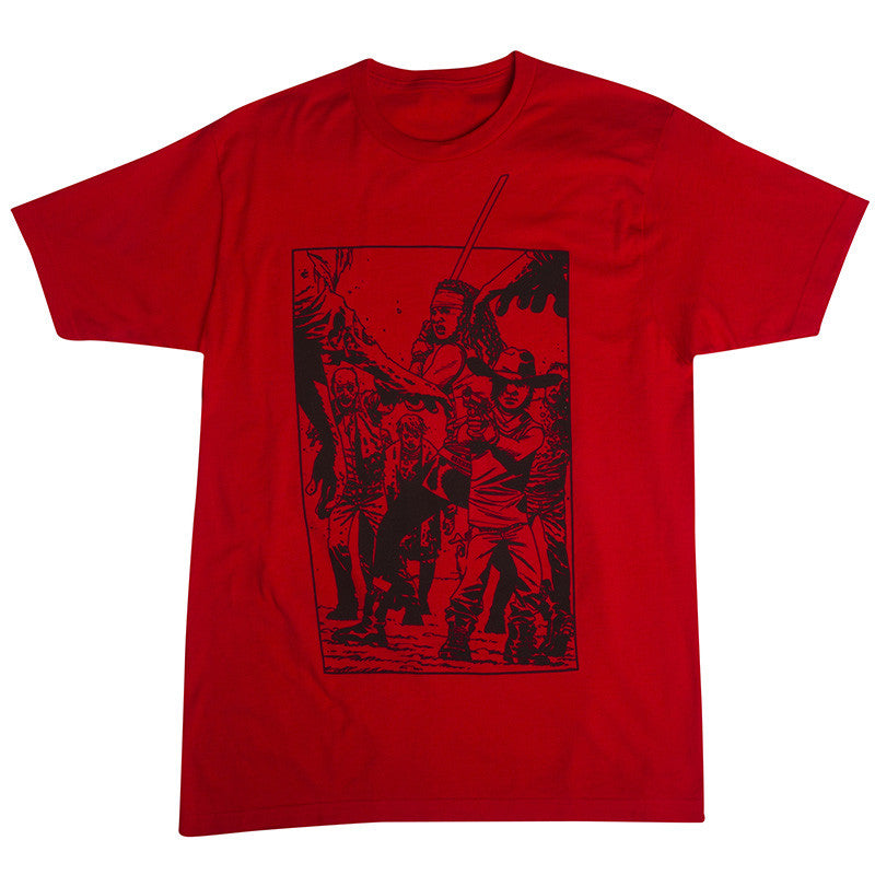 the walking dead blood red t shirt men s skybound the walking dead