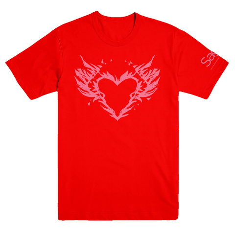 SAGA Burning Heart Shirt (Men's) T-Shirt