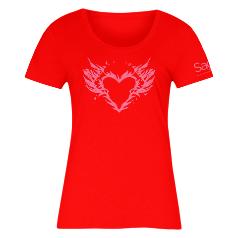 SAGA Burning Heart Shirt (Women's) T-Shirt