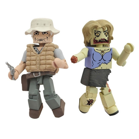 THE WALKING DEAD Minimates - Dale & Female Zombie
