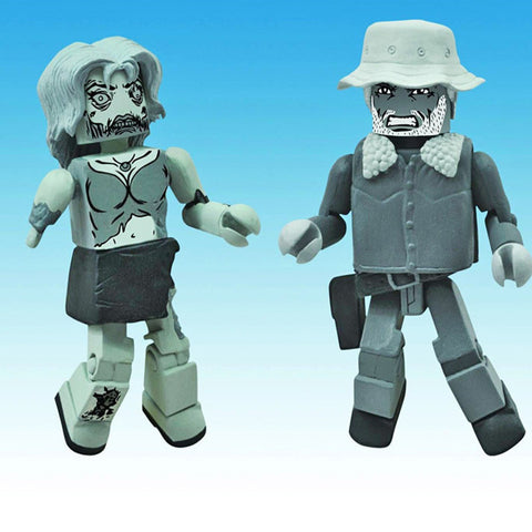 THE WALKING DEAD Minimates - Dale & Female Zombie BW