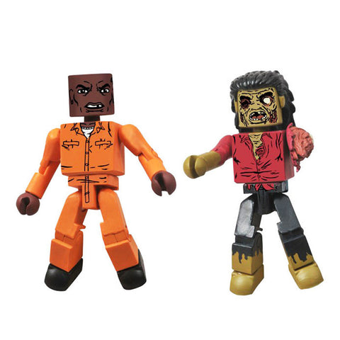 THE WALKING DEAD Minimates - Dexter & Dreadlock Zombie
