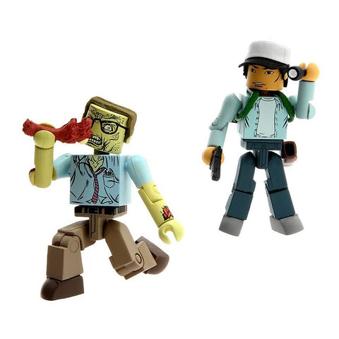 THE WALKING DEAD Minimates - Glenn & Nerd Zombie