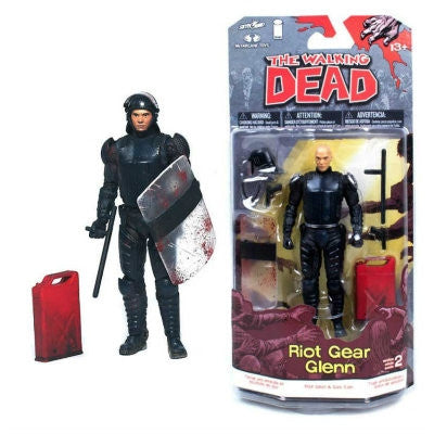THE WALKING DEAD Comic Series 2 Riot Gear Glenn Action Figure