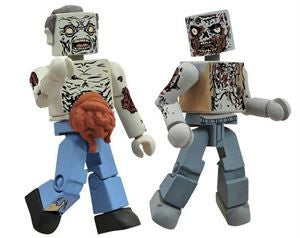 THE WALKING DEAD Minimates - Guts Zombie & Burned Zombie
