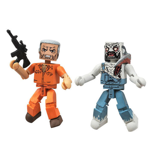 THE WALKING DEAD Minimates - Prison Hershel & Farmer Zombie