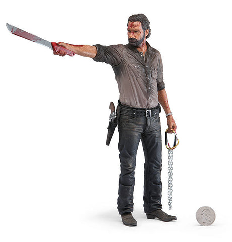 "AMC's THE WALKING DEAD Rick Grimes 10"" Deluxe Action Figure - Vigilante Edition"