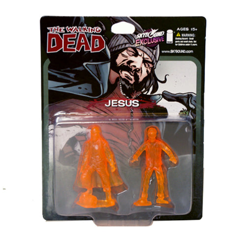 THE WALKING DEAD - Jesus PVC Figure 2-Pack (Translucent Orange)