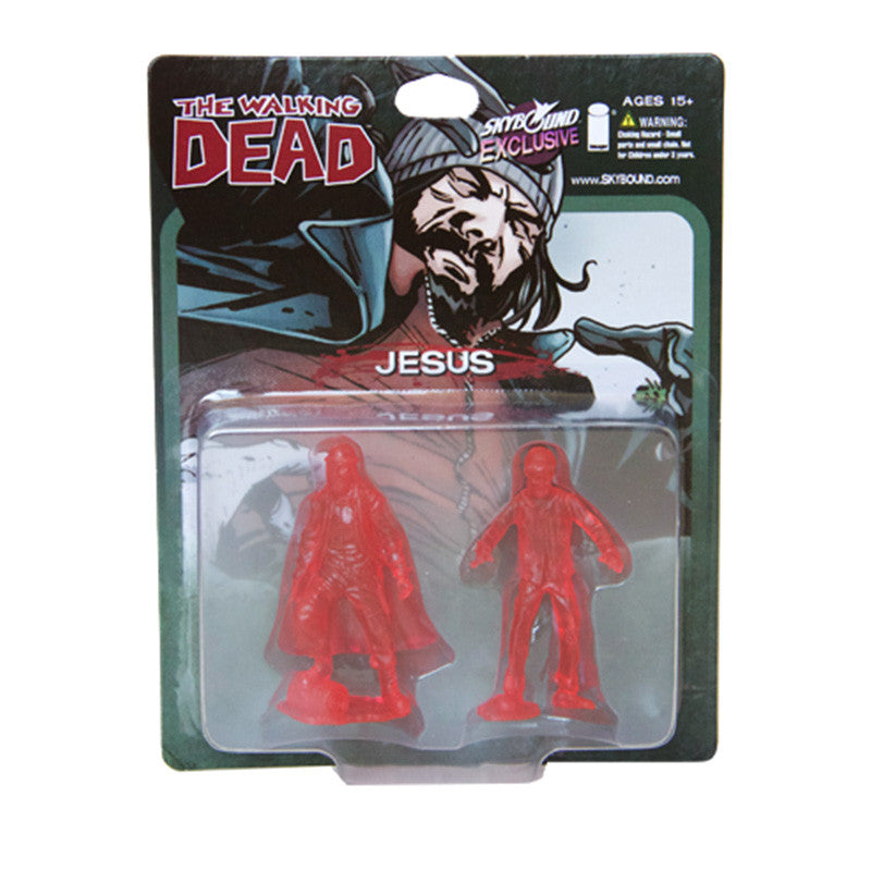 THE WALKING DEAD - Jesus PVC Figure 2-Pack (Translucent Red)