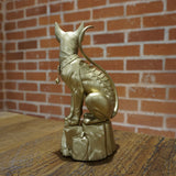 SAGA Lying Cat Statue - Gold Color Version