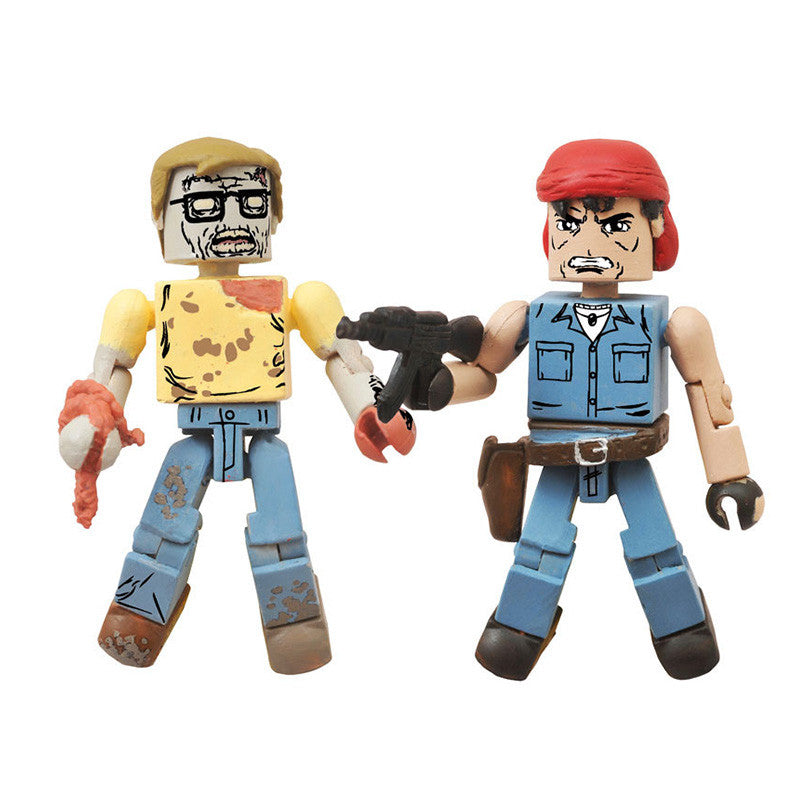 THE WALKING DEAD Minimates - Martinez & Geek Zombie