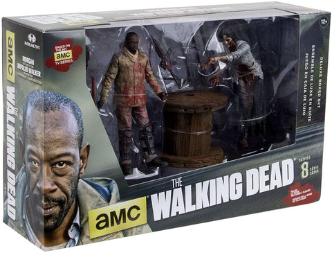AMC's THE WALKING DEAD Morgan & Impaled Walker with Spike Trap Action Figure 2-Pack