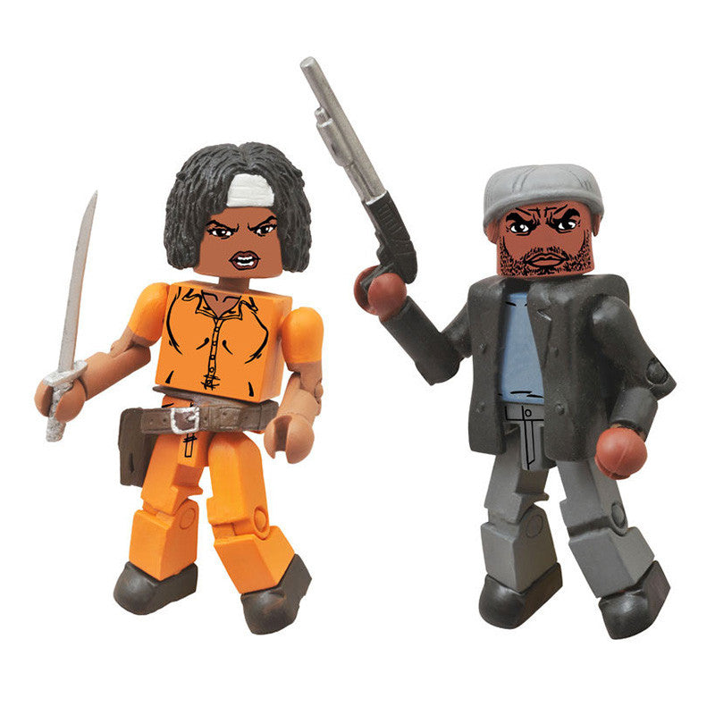 THE WALKING DEAD Minimates - Tyreese & Prison Michonne