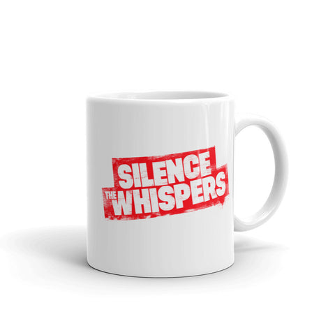 Silence The Whispers - Red Logo Mug