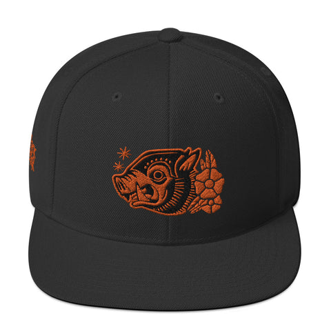 "Attack Peter ""War Hog"" Snapback in Black/Orange"